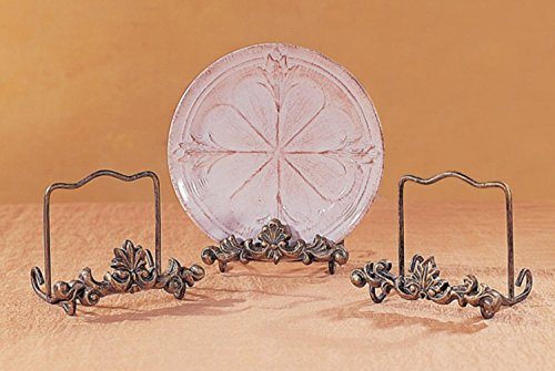 Club Pack of 12 Victorian Gold Scroll & Leaf Plate Stands by CC Home Furnishings