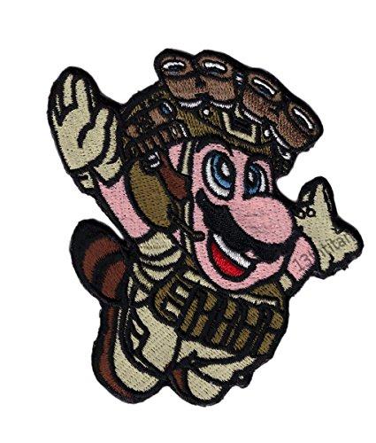 Tactial Morale Patch Mario Fly Tanuki Old School Operator Mi