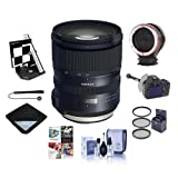 Tamron SP 24-70mm f/2.8 Di VC USD G2 Lens for Canon EOS DSLRs - Bundle With 82mm Filter Kit, Datacolor AF Calibration Aid, FocusShifter DSLR Follow Focus, Peak Lens Changing Kit Adapter, And More