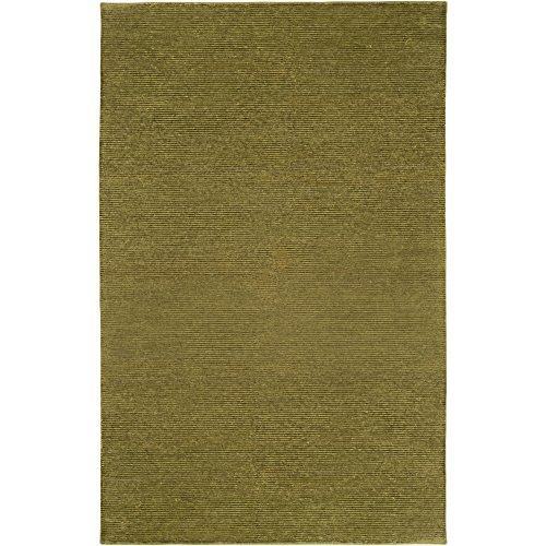 Surya Mugal IN-1476 Transitional Hand Knotted 100% Semi-Worsted New Zealand Wool Olive Green 2' x 3' Accent Rug
