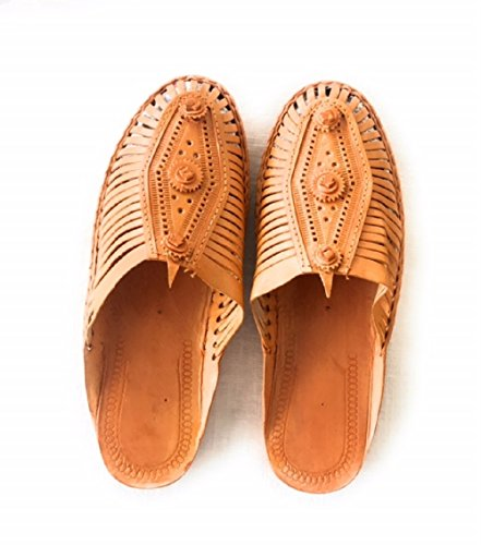 Leather Sandal Slipper - Women and Men's Stylish, Hand Crafted Leather Sandals (Womens Size 8) by Sol Sandal