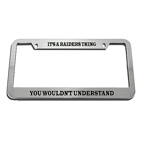 "1pc NEW Football Oakland Raiders Black Plastic License Plate Frame 12.5/"" x 6.5/"""