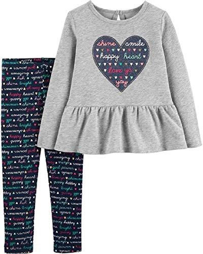 Carter's 2-Piece Heart Top & Slogan Legging Set, 18 Months