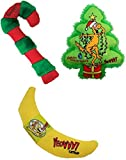 YEOWWW! - 100% ORGANIC HOLIDAY CATNIP CAT TOY BUNDLE - KRIS KRINKLE CANDY CANE BANANA CATNIP - MADE IN USA