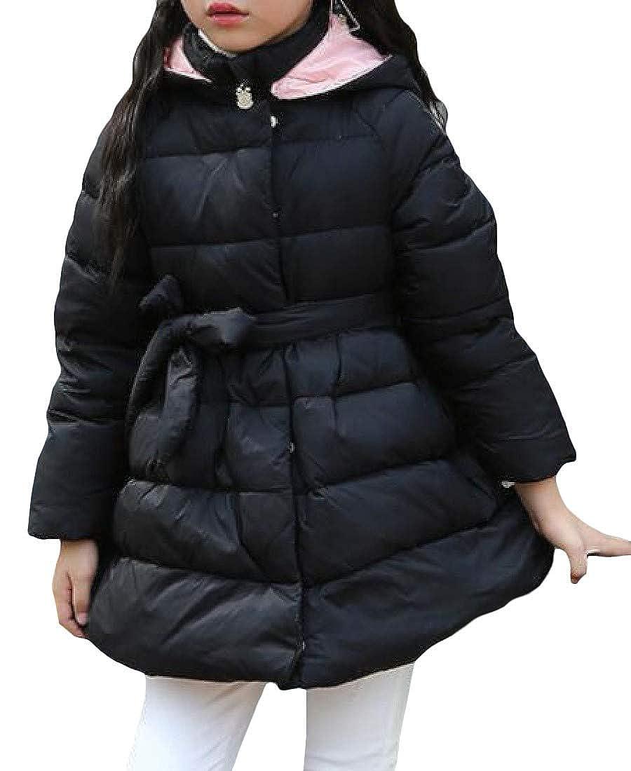 Joe Wenko Girls Boys Hooded Winter Bubble Zip Down Outwear Jacket Coat