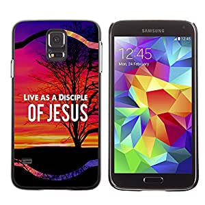 Bible Case Cover Samsung Galaxy S5 V SM-G900 / LIVE AS A DISCIPLE OF JESUS /