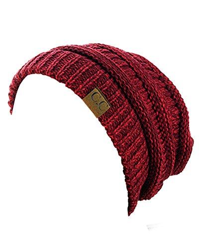 22ba4644e9cd0 NYFASHION101 Unisex Multicolor Warm Cable Knit Thick Slouch Beanie Cap