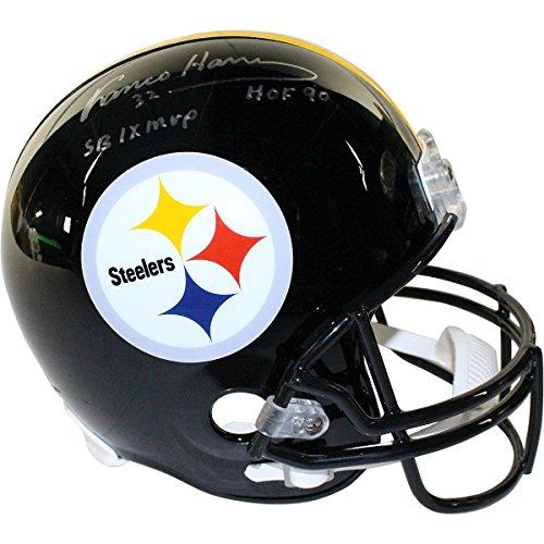 Franco Harris Signed Pittsburgh Steelers Full Size Replica Helmet w/