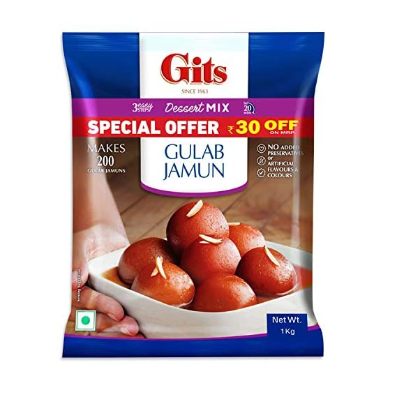 Gits Instant Gulab Jamun Dessert Mix, 1kg