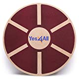 Yes4All Wooden Wobble Balance Board – Exercise Balance Stability Trainer 15.75 inch Diameter (Red Board) Review