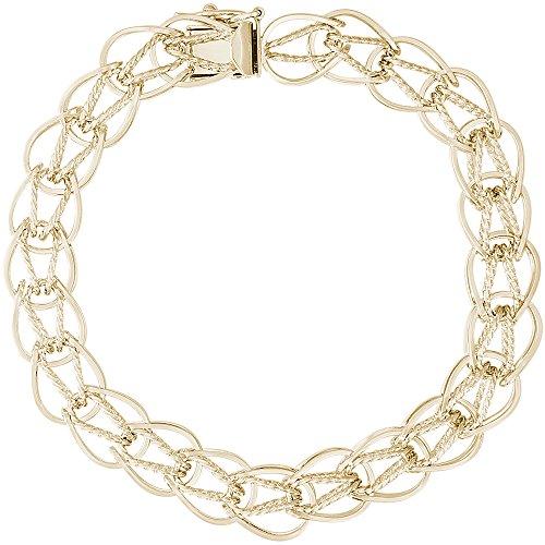 Oval Charm 14k Bracelet (Rembrandt Charms, 7