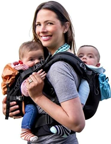 Twins and Children Between 10-lbs and 45 lbs. Compact Works as Tandem or Single Carrier Black, Blue, Orange Women Lite Model For Men TwinGo Carrier 100/% Cotton and Adjustable Comfortable