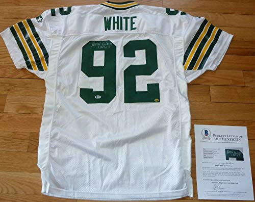 (Beckett-Bas Reggie White Green Bay Packers Autographed Signed-Autographed Signed Starter Jersey 498 - Certified Signature)