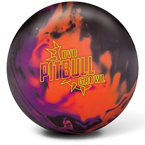 DV8 Pitbull Growl Bowling Balls, Black/Purple/Orange, 15 lb by DV8