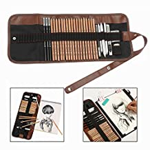 OFKPO 18 Pcs Sketching Pencil Set Charcoal Pencil Eraser Utility Knife Pencil Extender Drawing Painting Artistic Tool For Beginners Artist