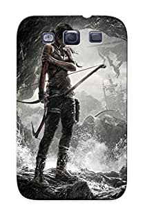 Design For Galaxy S3 Premium PC Case Cover Lara Croft - Tomb Raider Protective Case