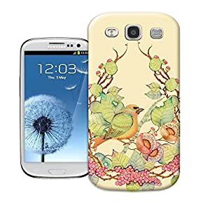 tostore Birds flowers case battery cover for samsung galaxy s3
