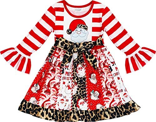Baby Toddler Little Girls Christmas Outfit or Dresses Snowman Reindeer Rudolph Santa Clothes