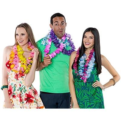 Kangaroo Jumbo Party Bag ~ Tropical Hawaiian Luau Lei Styles (25 ct) ~ Party Favors (25 Count): Toys & Games