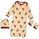 Clearance Sale! 3Pcs/Set Newborn Baby Xmas Reindeer Gown Hat Scratch Mittens Outfits Clothes