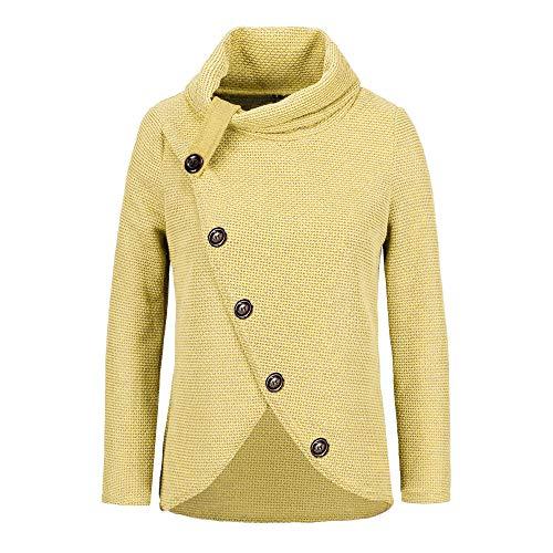 Botrong Women Button Long Sleeve Sweater Sweatshirt Pullover Tops Blouse Shirt -