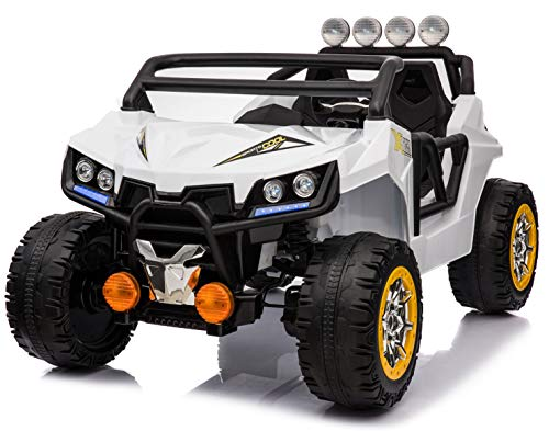 Two Seater 4 Wheel Drive Buggy Toy Electric Car 12V Battery KL-2988 Ride On RC Parental Remote Controller Suitable for Boys Girls ()