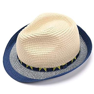 cedde4cf2 accsa Toddler Kid Boy Fedora Straw Panama Derby Sunhat Short Brim Age 5-9Y