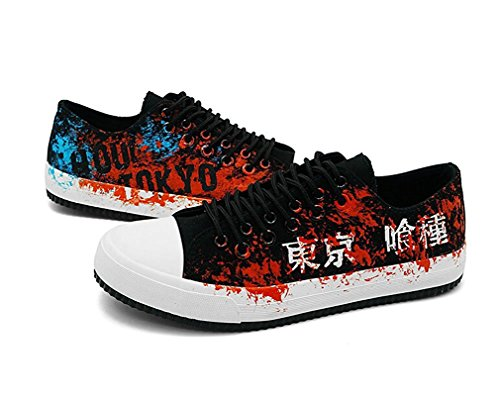 Bromeo Tokyo Ghoul Unisex Segeltuch Low-Top Sneaker Trainer Schuhe