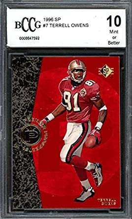 new styles f097a 57fb6 Amazon.com: 1996 sp #7 TERRELL OWENS san francisco 49ers ...