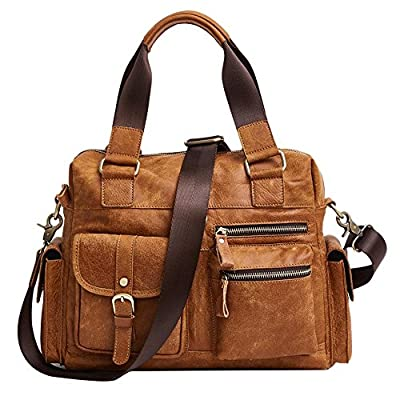 d529343b6a delicate Genda 2Archer Mens Leather Vintage Business Shoudler Crossbody  Tote Bag Handbag