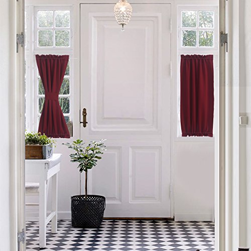 Entrance Door Privacy Panels Curtains : Authentic blackout door window curtain panels for privacy