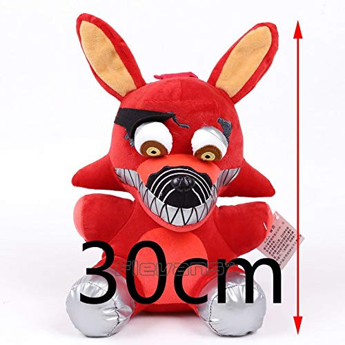 PampasSK Movies & TV - Five Nights at Freddy's Bear Foxy Rabbit Duck Horror Doll Plush Toys Soft Stuffed Animal Dolls 12inch 30cm 6 Types 1 PCs from PampasSK