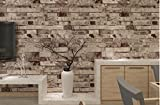 3D Faux Wall Paper Roll Brick Stone Wallpaper for Homen Decorating Wall Art,Gray