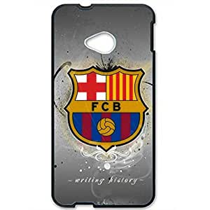 DIY Design FC FC Barcelona Team Logo Phone Case Cover For Htc One M7 3D Plastic Phone Case