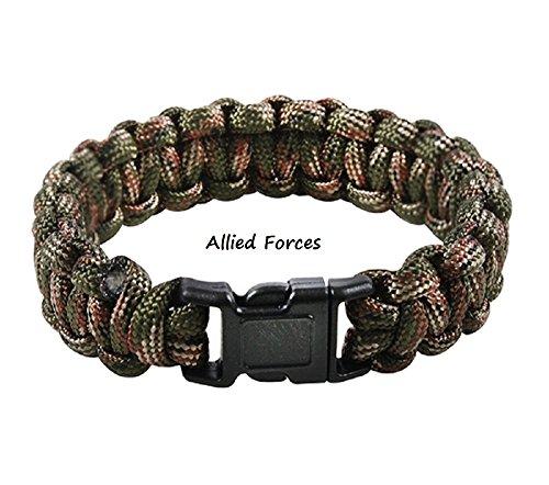 Paracord Military Survival Bracelet (Red Dawn, 9)]()