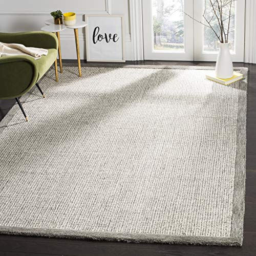 Safavieh Abstract Collection ABT220A Contemporary Handmade Sage and Ivory Premium Wool Area Rug (6