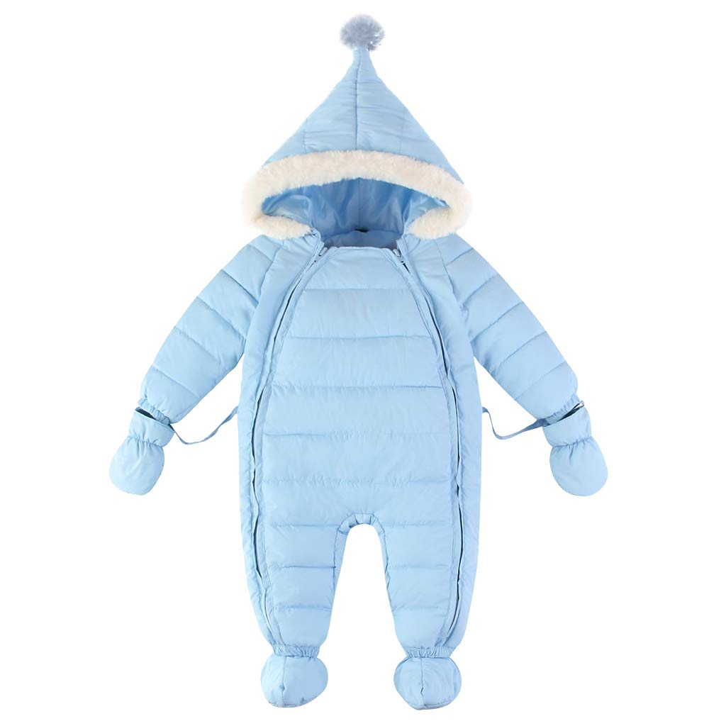 Baby Snowsuit Winter Rompers Hoodie Down Jacket Coat Warm Fur Trimmed Outfits 12-18 Months ShenzhenWindyTradingCo. Ltd