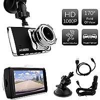 Dash Cam 3 TFT LCD HD Motion Detection Camera Car DVR w/ Impact G-Sensor