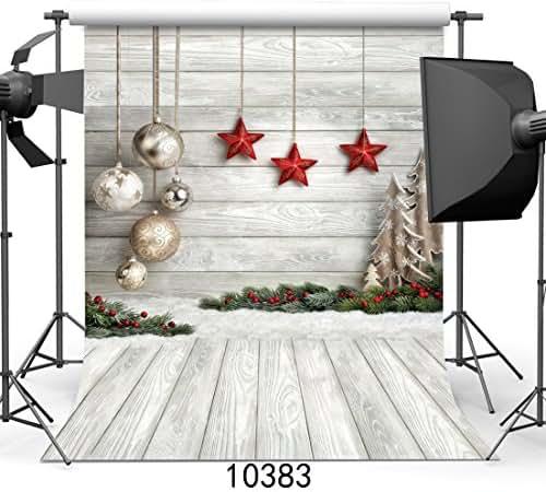SJOLOON 8X12ft Christmas Balls Vinyl Photography Backdrop Customized Photo Background Studio Prop 10383