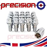Precision 16 x Bolts for Ṕeugeot 107 with Genuine Alloy Wheels Only PN.SFP-16BMPEB1111