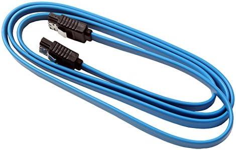1M Straight SATA III Cable Serial ATA Data Lead Locking Latching 3.3ft Blue