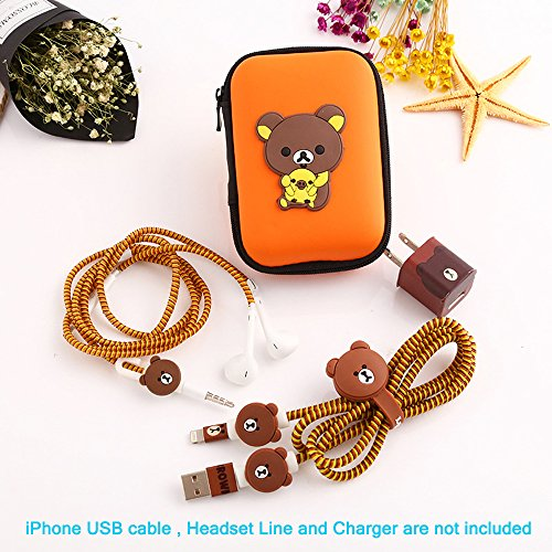 Ship by USPS,ZOEAST(TM) DIY Protectors Apple Lightning Data Cable USB Charger Data Line Earphone Wire Saver Protector for iPhone 5 5S SE 6 6S 7 8 Plus X IPad iPod iWatch (Upgrade Styles, Brown Bear) by Apple Data Cable