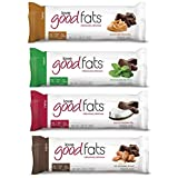 Love Good Fats Bars (Keto, Healthy Fats, Low Carb, Low Sugar, Gluten Free, Non GMO), 39g - box of 12 (variety pack)