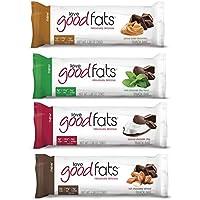 Love Good Fats Bars (Keto Snacks for Keto Diet, Low Carb Snacks for Low Carb Diet, Low Net Carbs, Gluten Free, Non GMO) - VARIETY PACK,  12 bars x 39g each