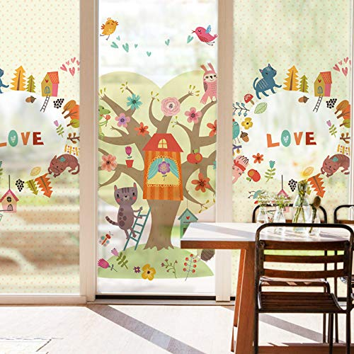 Stained Static Cling Window Film Frosted Opaque Privacy Glass Sticker Home dicoration Wall Stickers 90x120cm