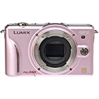 Panasonic Lumix DMC-GF2 Digital Micro Four Thirds Camera Body (Pink) (International Model No Warranty)