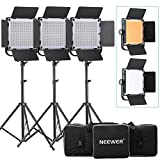 Bestlight® High Power Continuous 40W 576 LED Video Panel Studio Barndoor Lighting Kit with Light Stand, Carrying Bag, 6 filters for Canon, Nikon, SONY and Other DSLR Cameras or Camcorders