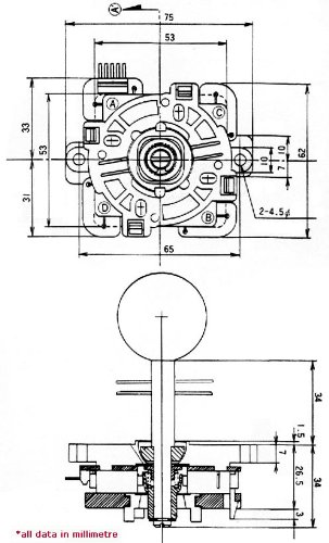 sanwa jlf-tp-8yt-sk oem orange ball handle arcade joystick ... mm 3000 joystick wiring diagram #15