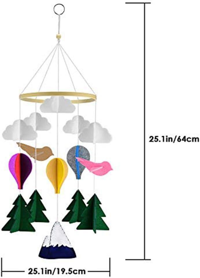 Lit Boules De Feutre Mobile Musical pour La D/écoration De Lit De Maternelle Prom-note Lit B/éb/é Mobile B/éb/é Berceau Mobile Musical B/éb/é Carillons /Éoliens