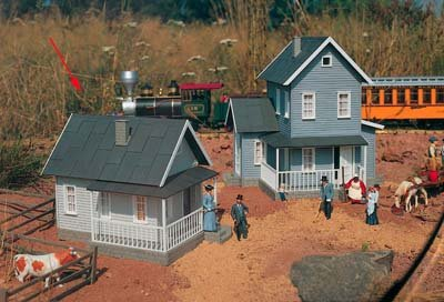 PIKO G SCALE MODEL TRAIN BUILDINGS - UNCLE SAM'S FARMHOUSE - 62226